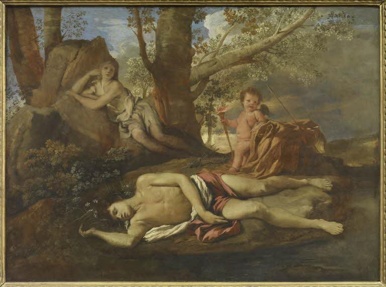 Nicolas Poussin. Echo et Narcisse. © 2011 Musée du Louvre / Martine Beck-Coppola