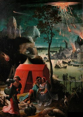 Loth et ses filles. Anonyme du 17° siècle, parfois attribué à Lukas Van Weyden