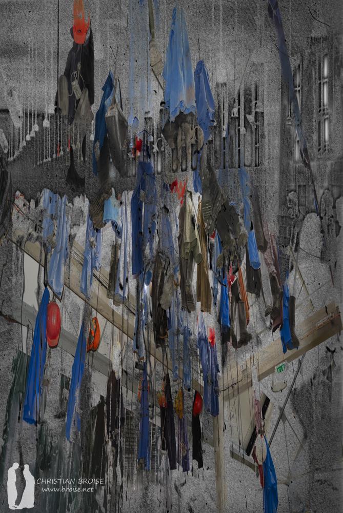 Mineurs. Oeuvre originale: tirage Fine Art de l'artiste Christian Broise