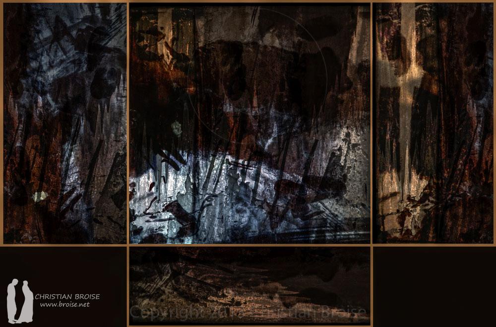 Retables. Oeuvre originale: tirage Fine Art de l'artiste Christian Broise