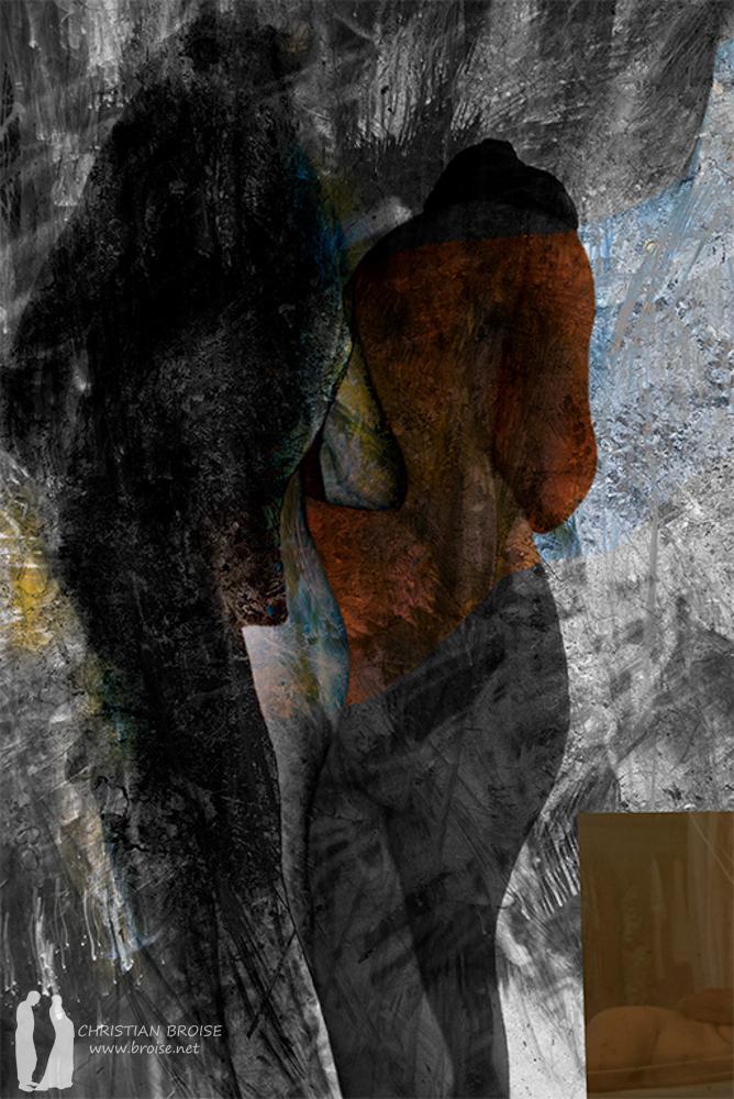Suzanne. Oeuvre originale: tirage Fine Art de l'artiste Christian Broise