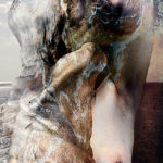 La jeune fille et la mort. Oeuvre originale: tirage Fine Art de l'artiste Christian Broise