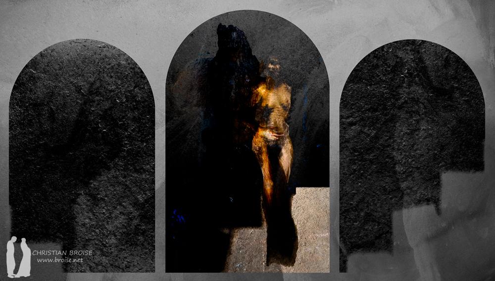 Pyrame et Thisbé.Oeuvre originale: tirage Fine Art de l'artiste Christian Broise