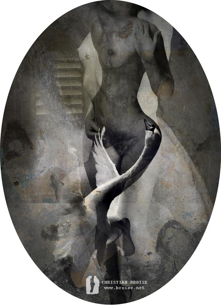 Tapisserie d'Arachné. Oeuvre originale: tirage Fine Art de l'artiste Christian Broise
