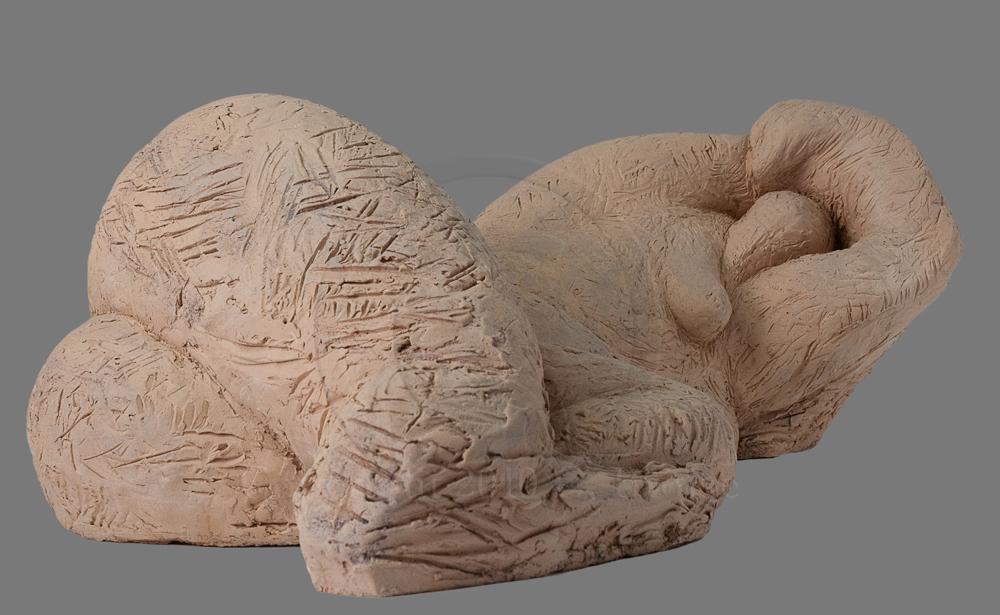 Figure allongée 1 (terre) de Christian Broise