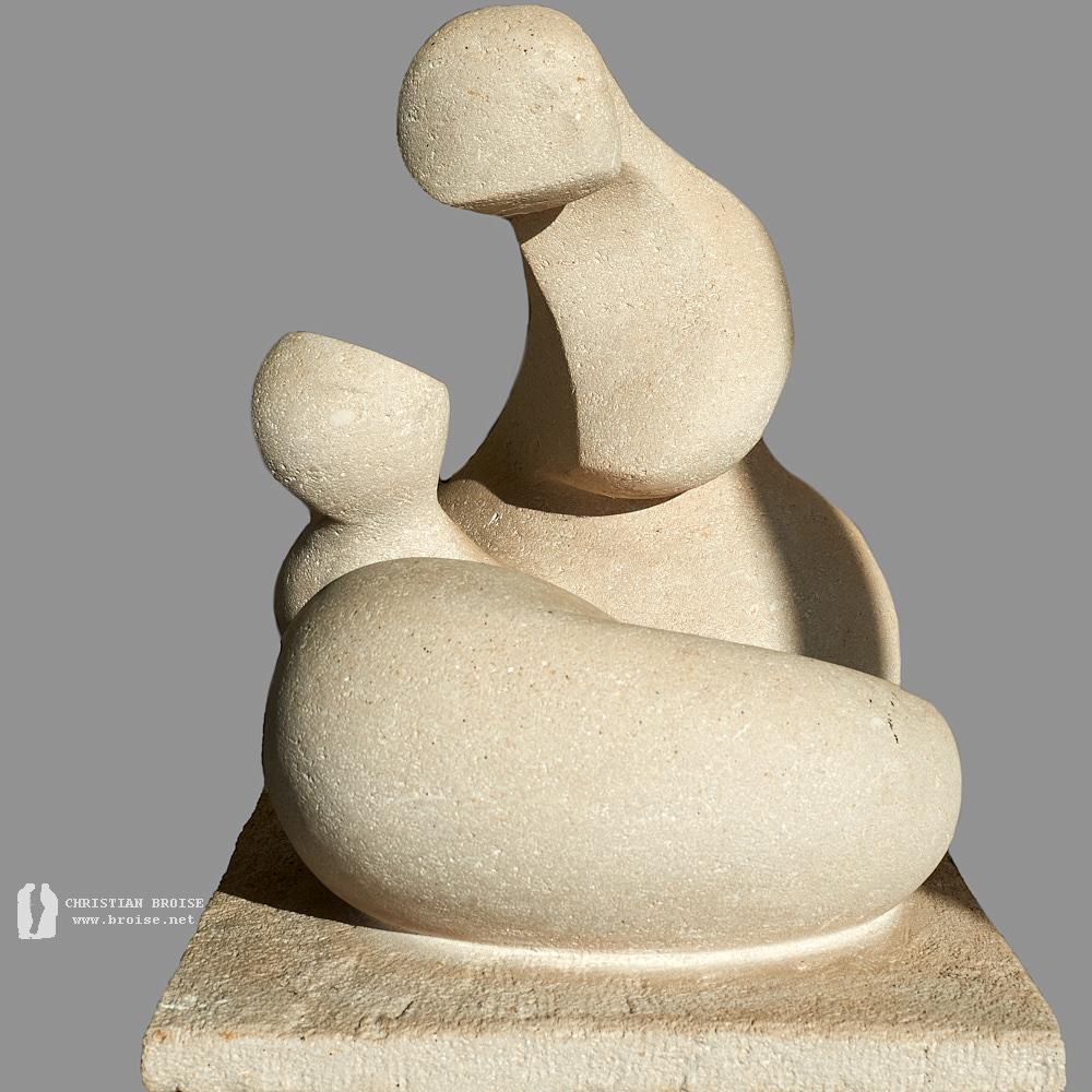 Figure assise 1 (Pierre D'Eurville) de Christian Broise