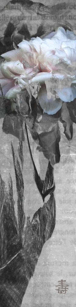 La pivoine Stèle 1. Oeuvre originale: tirage Fine Art de l'artiste Christian Broise